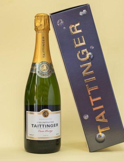 Champagne Brut Cuvée Taittinger.