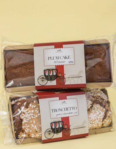 Plum Cake al limone e Tronchetto pere e cioccolato 300gr.